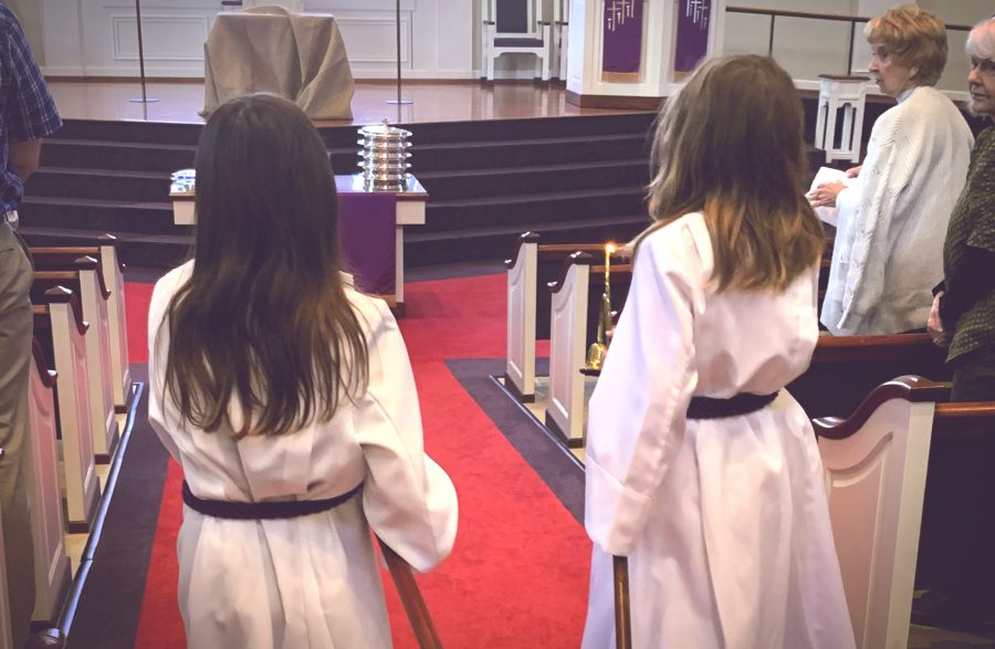 Acolytes: Bringing in the Light of Christ
